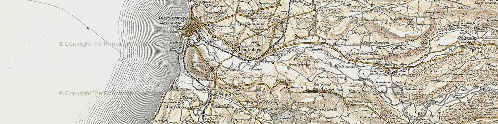 Old map of Llanbadarn Fawr in 1901-1903