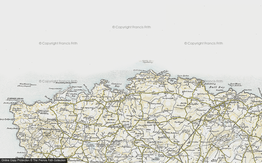 Old Map of Llanbadrig, 1903-1910 in 1903-1910