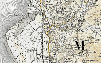 Old map of Llanbedr in 1903