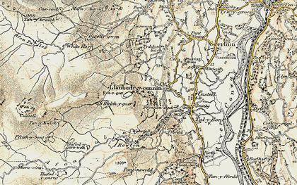 Old map of Afon Dulyn in 1902-1903