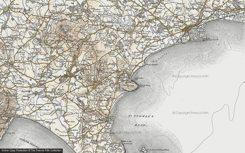 Old Map of Historic Map covering Bachellyn in 1903