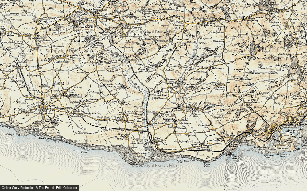 Old Map of Llanbethery, 1899-1900 in 1899-1900
