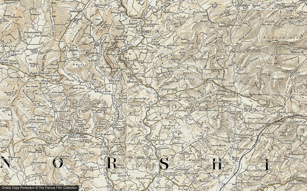 Old Map of Historic Map covering Bachell Brook in 1901-1903