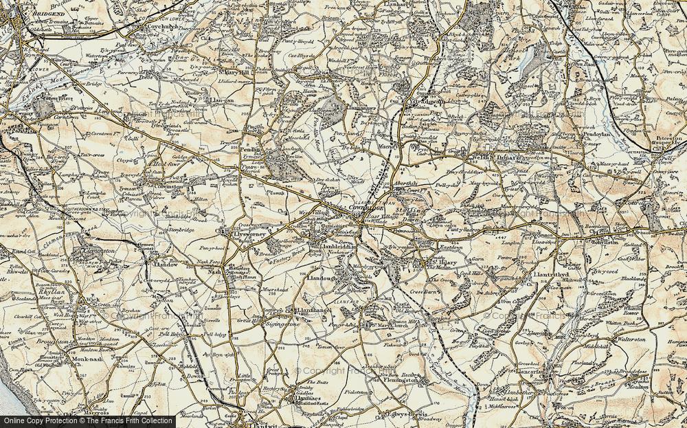 Old Map of Llanblethian, 1899-1900 in 1899-1900