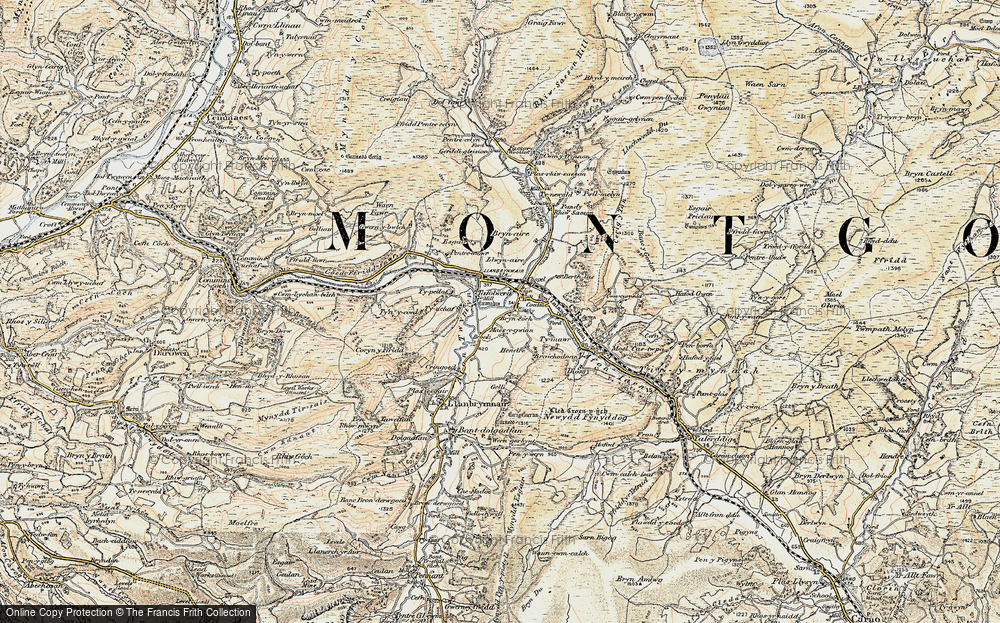 Old Map of Llanbrynmair, 1902-1903 in 1902-1903