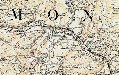 Old map of Llanbrynmair in 1902-1903