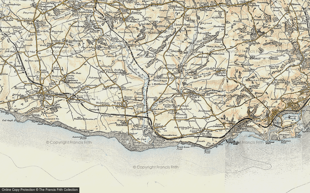 Old Map of Llancadle, 1899-1900 in 1899-1900