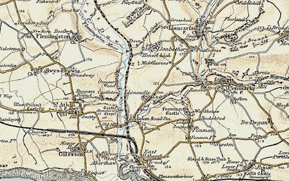 Old map of Llancadle in 1899-1900