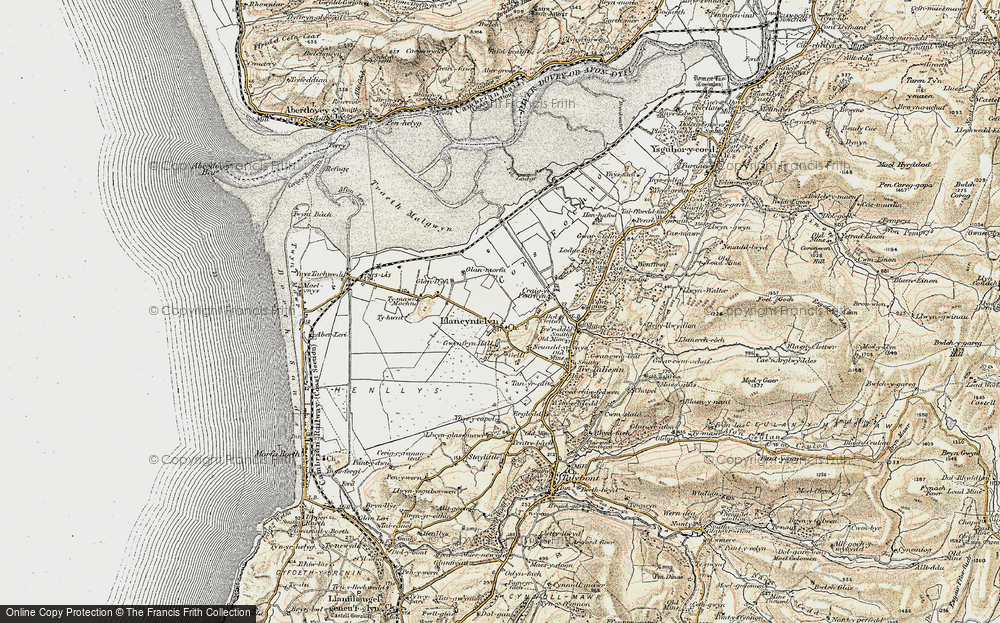 Old Maps of Llancynfelyn Francis Frith