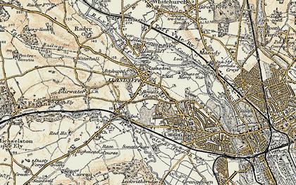 Old map of Llandaff in 1899-1900
