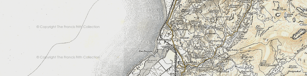 Old map of Llandanwg in 1903
