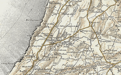 Old map of Aelybryn in 1901-1903