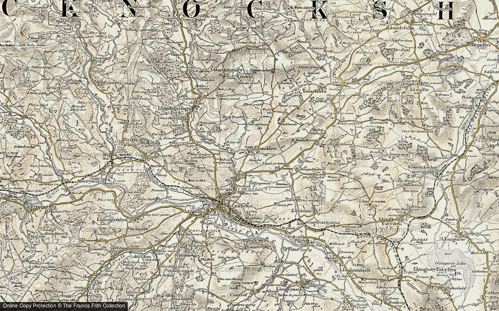 Old Map of Historic Map covering Alexanderstone in 1900-1901