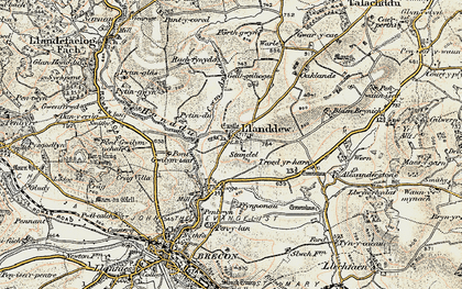 Old map of Alexanderstone in 1900-1901