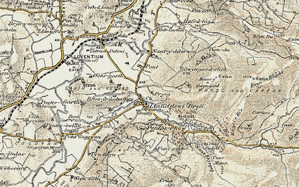 Old map of Abercarfan in 1901-1903