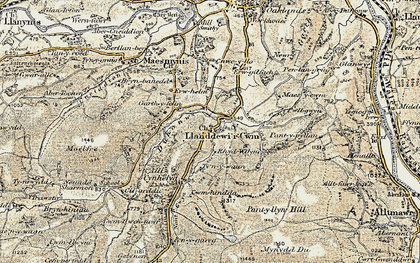 Old map of Banc y Celyn in 1900-1902