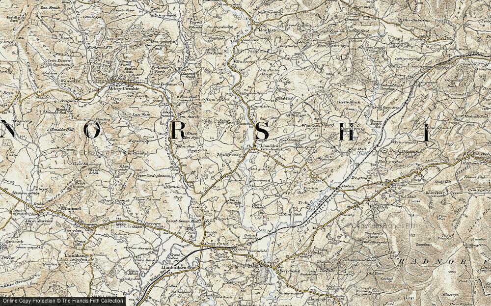 Llanddewi Ystradenni, 1901-1903