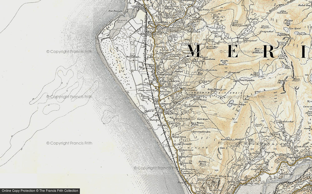 Old Map of Historic Map covering Afon Ysgethin in 1902-1903