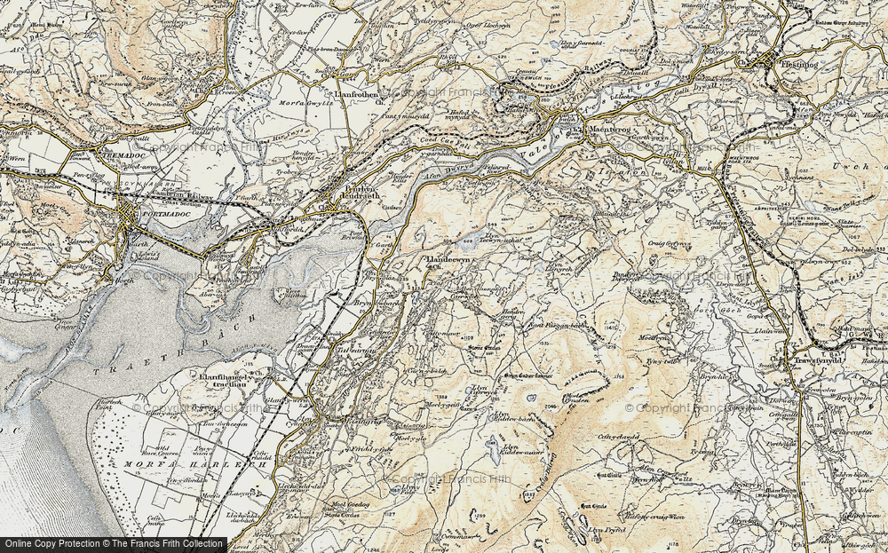 Old Map of Historic Map covering Y Gyrn in 1903