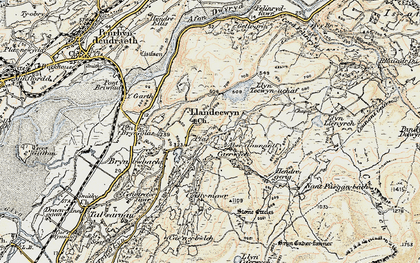 Old map of Y Gyrn in 1903