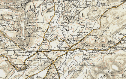 Old map of Accre in 1902-1903