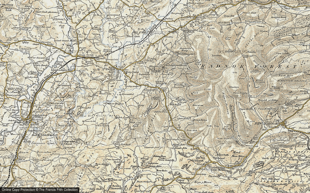 Old Map of Historic Map covering Bailey-mawr in 1900-1903