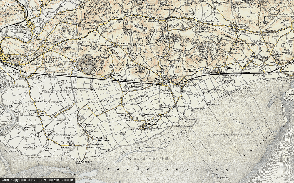 Old Map of Historic Map covering Barecroft Common in 1899-1900