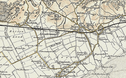 Old map of Barecroft Common in 1899-1900