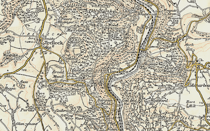 Old map of Llandogo in 1899-1900