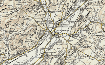 Old map of Ystrad in 1900-1902