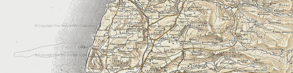 Old map of Aberceiro in 1902-1903