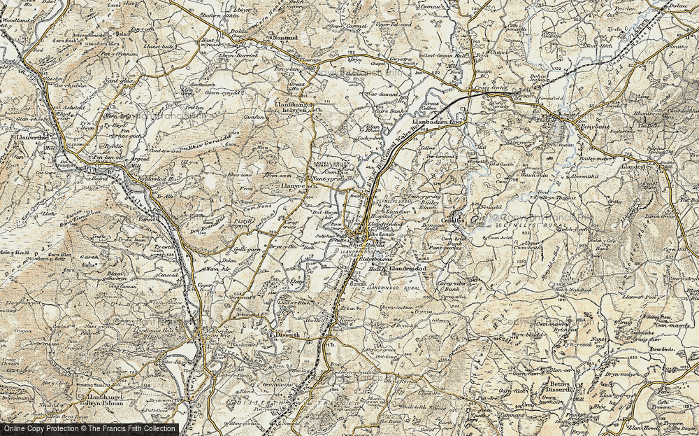 Old Map of Historic Map covering Bailey Einon in 1900-1903