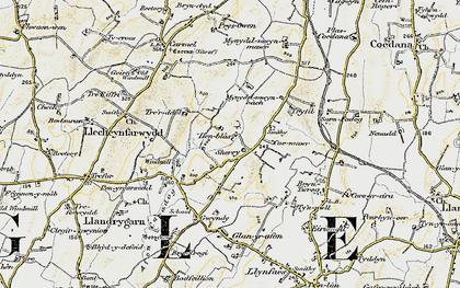Old map of Llandrygan in 1903-1910
