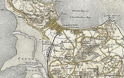 Old map of Llandudno in 1902-1903