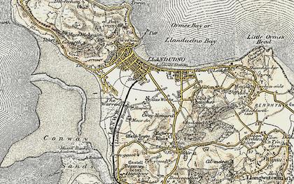 Old map of Llandudno in 1902-1903