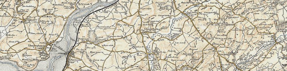 Old map of Ystradferthyr in 1901
