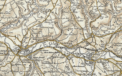 Old map of Aberhalen in 1901