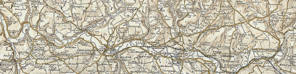 Old map of Alltyresgob in 1901