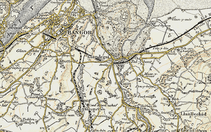 Old map of Llandygai in 1903-1910