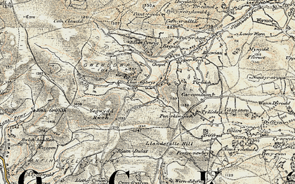 Old map of Ysgwydd Hwch in 1900-1902
