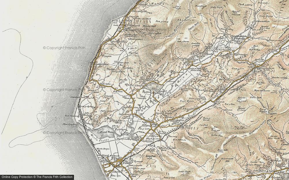 Old Map of Llanegryn, 1902-1903 in 1902-1903