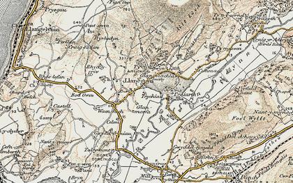 Old map of Llanegryn in 1902-1903