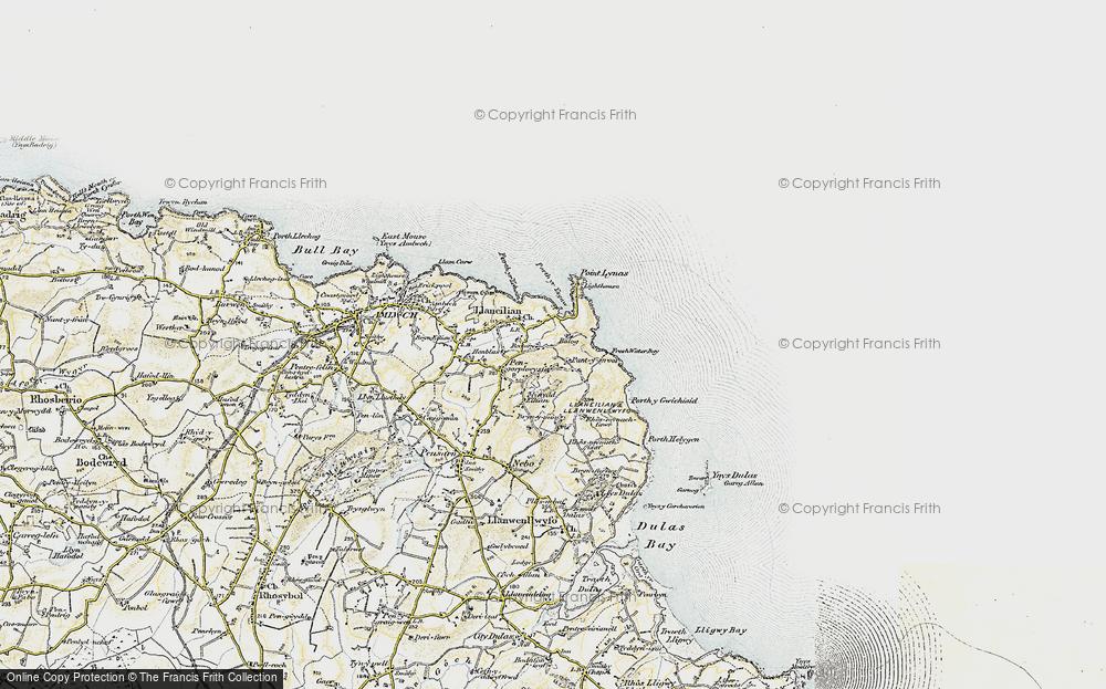 Old Map of Llaneilian, 1903-1910 in 1903-1910