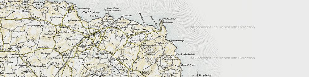 Old map of Llaneilian in 1903-1910