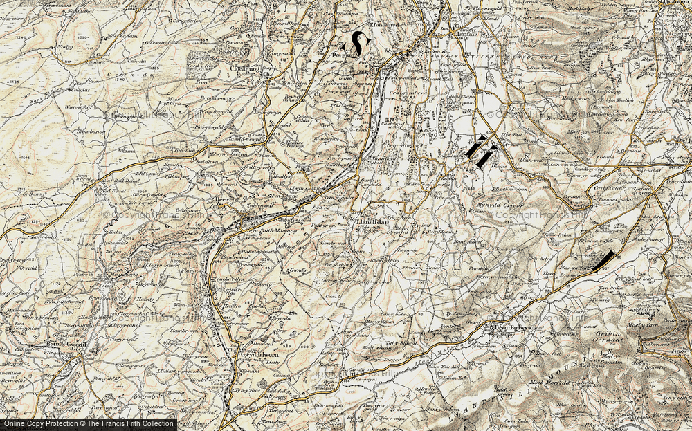 Old Map of Historic Map covering Afon y Maes in 1902-1903