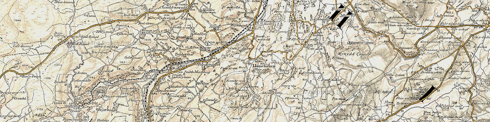 Old map of Afon y Maes in 1902-1903