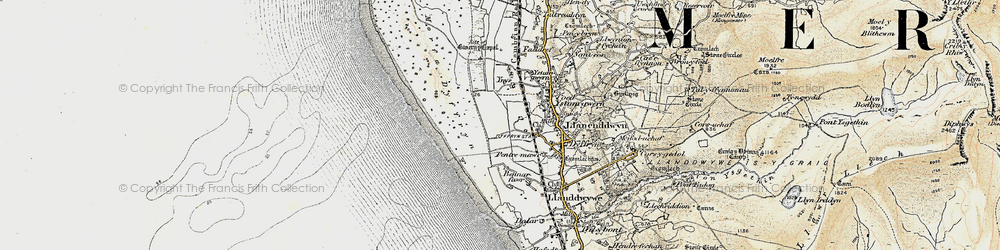 Old map of Ynys-Gwrtheyrn in 1902-1903