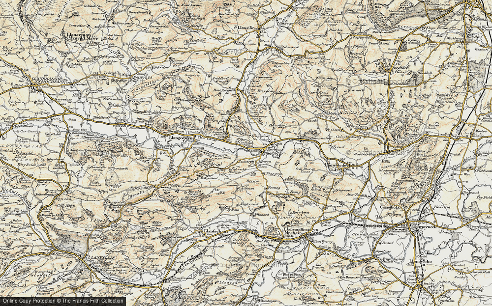 Old Map of Historic Map covering Allt Goch in 1902-1903