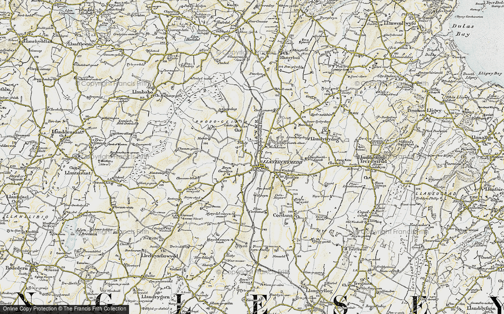 Old Map of Historic Map covering Wilpol in 1903-1910