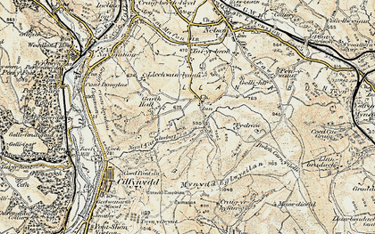 Old map of Llanfabon in 1899-1900